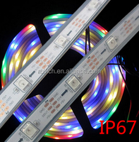 WS2812B Smart led pixel strip,Black/White PCB,30/60/144 leds/m WS2812 IC;WS2812B/M 30/60/144 pixels,IP20/IP65/IP67 DC5V