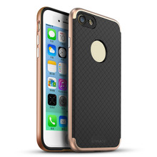 iPaky Business PC Frame+Silicone Hybrid Back Cover Cellphone Case For iPhone 7 7 plus