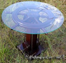 SHIP WHEEL TABLE - NAUTICAL FURNITURE - HANDICRAFT OF VIETNAM