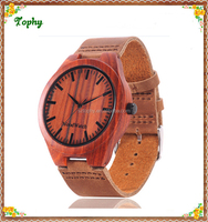 Top quality Rosewood wristwatch, custom logo fashion lady bamboo watch/wooden watch latest made in china