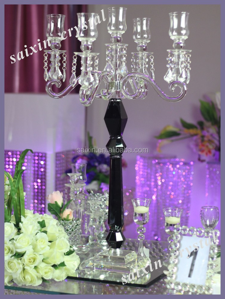 2015 Gorgeous crystal decorations for table event design