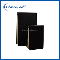 Carbon Black Paper Notebooks With Custom Printing Inner Page