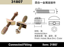 Metal furniture connector fittings