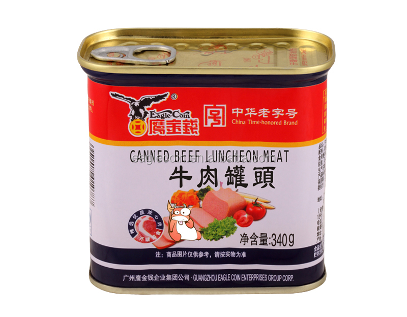 Canned Food 340g Beef Luncheon Meat Brands
