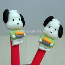 Newest handmade cute animal shape polymer clay ball pen