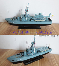 Ecuador navy warship model, wooden boat model - hand made, size 40x8x22cm, OEM welcome
