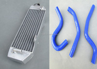 Motorcycle new for KAWASAKI KX 125 KX125 99-02 1999 2000 01 2002 Aluminum Radiator and Silicone Hose