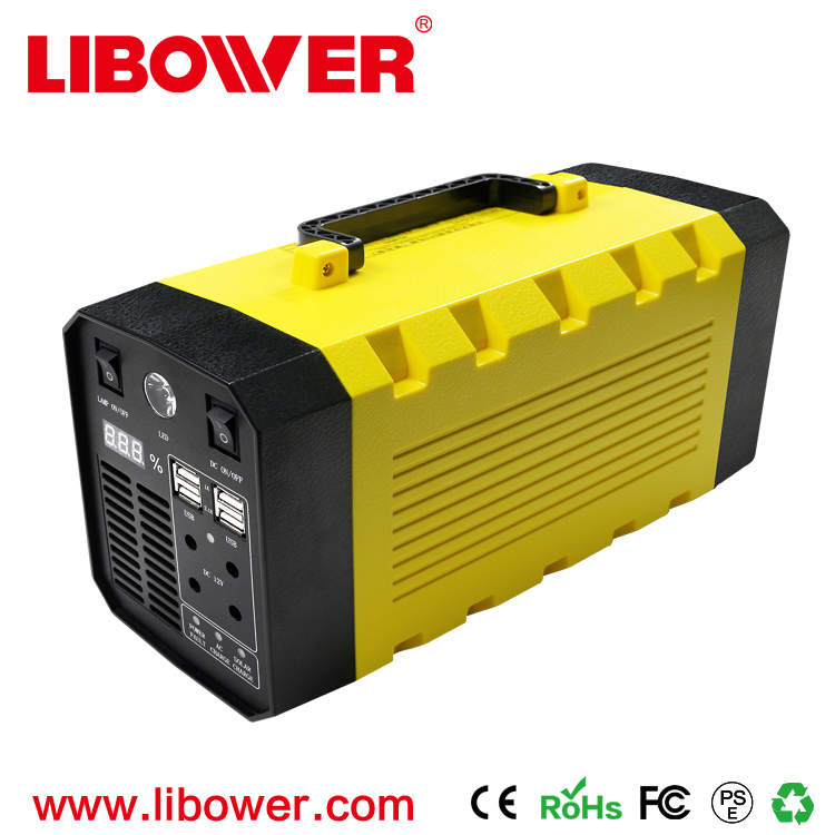 Libower On-Line Portable UPS 12V 35Ah AC/DC Portable UPS Power pure sine wave 500W- 1000W(peak) 12v to 220v Power