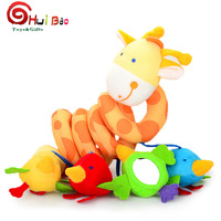 OEM customized colorful plush baby toy for bed hanging