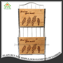 Chinese Preferential Antique Stand Shelf Wood Magazine Wall Rack