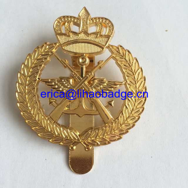 Chaplain and military custom metal badge for security and peace