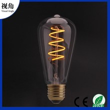 ST64 Soft LED Filament Ball Light for Home Bar Cafe Party Wedding Show Ornament Store Decor