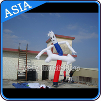 5mH coloful lighting attractive advertising Inflatable Sky Guy Dancer with arrow