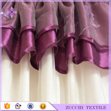 Romantic Purple Blinds European Wholesale Window Curtains For The Living Room Drapery Valance