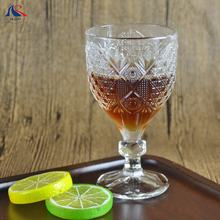 Wholesale Goblet Wine Glass Decorative Carve Brandy Glasses