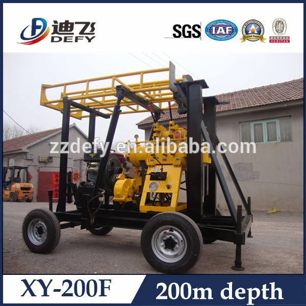 double wheels with convenient support legs drilling machine for soil test