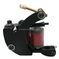 Black iron frame red coil tattoo machine high quality