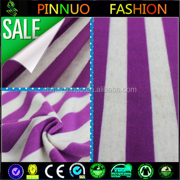 wholesale polyester linen rayon jersey fabric for shirt