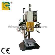 desktop pneumatic hot stamping machine LC-TH-90-1 embossing machine for dog tag