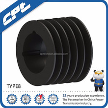 Cheap v type belt iron casting belt pulley wheel for farm machinery