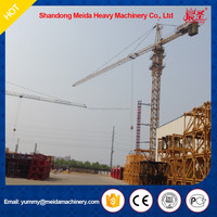 China cheap meida brand 1.0t tip loading, 6t max.loading monitor system remote control tower crane