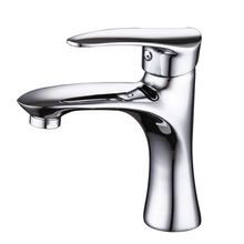 Modern brass chrome bathroom faucet cold and hot water wash basin mixer tap