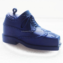 3D novelty blue color shoe shaped giant eraser