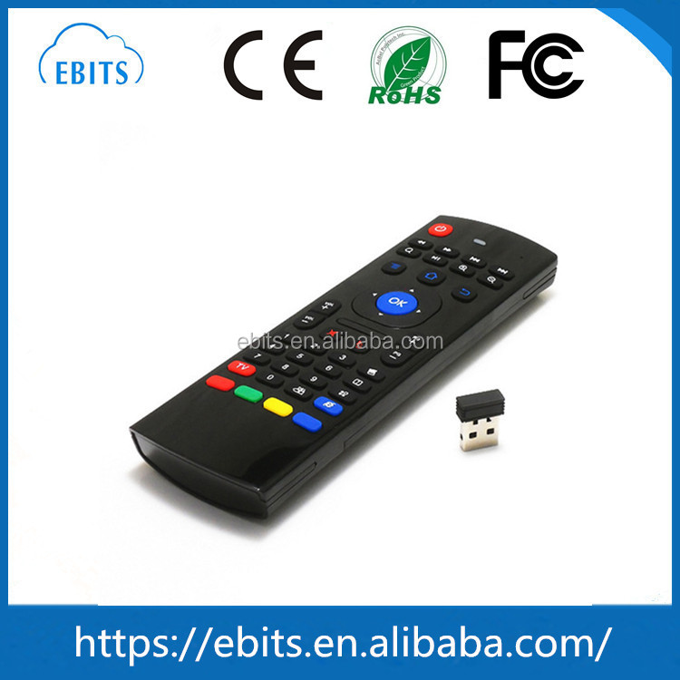 MX3 wireless remote control 2.4g air fly mouse for android tv box