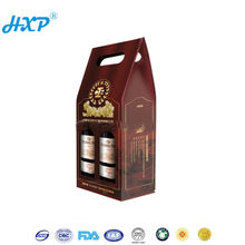 High Quality Portable Simple Corrugated Wine Gift Box For 2 Bottle