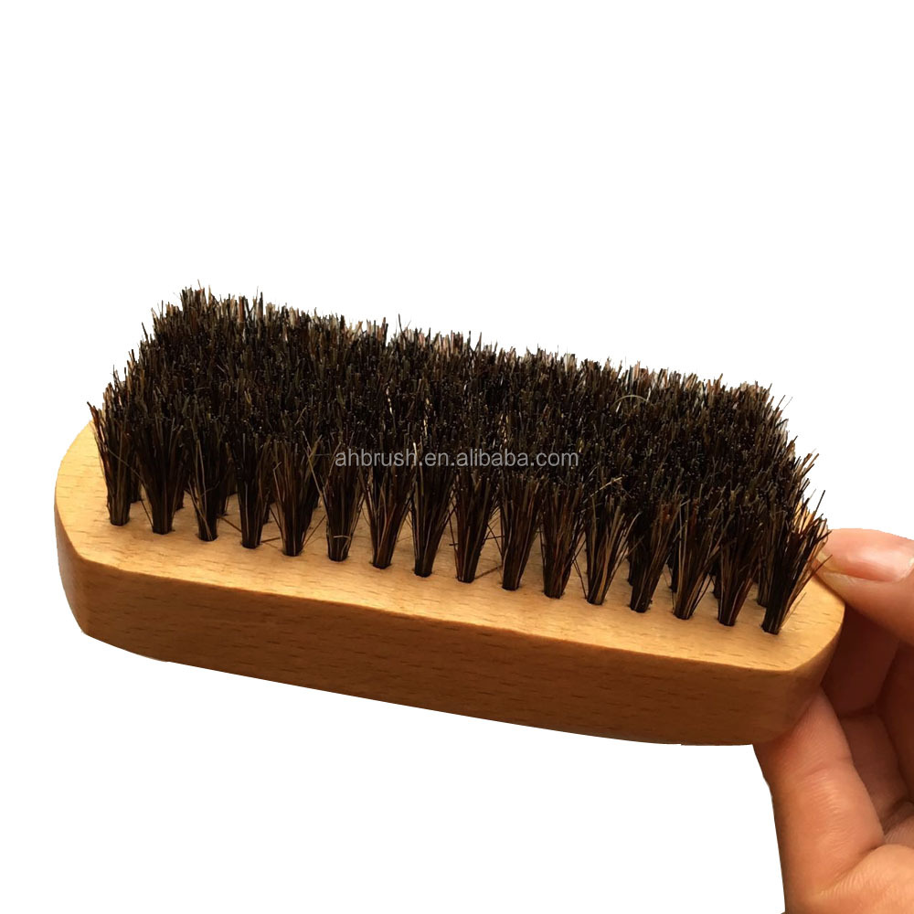 Beard brush for men with boar bristle for easy grooming