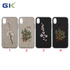 New Trend Embroidery Pattern With Metal Piece PC+TPU Hybrid Cover For iPhone X