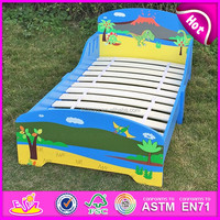 2016 new children wooden bed designs, wood children cartoon bed, wooden children bed W08A012