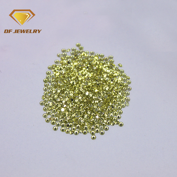 Fine quality 2mm round brilliant cut loose peridot cz stone for wedding dress making
