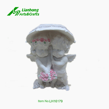 High quality resin white little angel figurine
