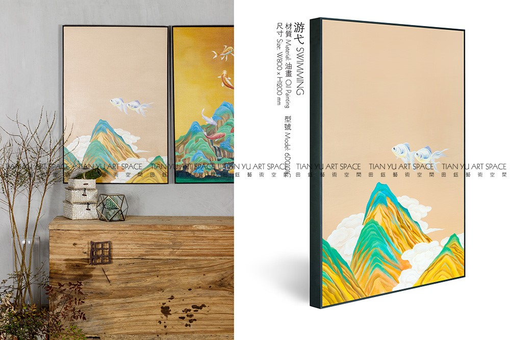 Alibaba trade assurance modern scenery art painting folk art picture drawing canvas
