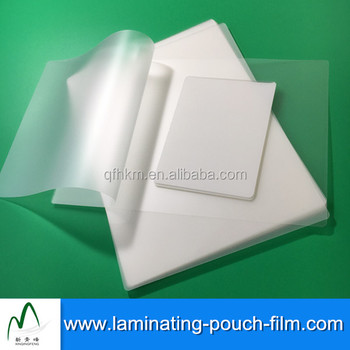 Various Sizes 3mil 5mil Protective Gloss Pet Lamination Pouches Film
