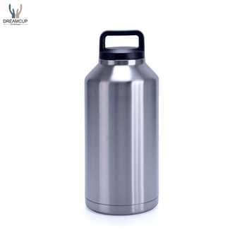 Amazon Hot-selling wide mouth double wall 64OZ Stainless steel vaccum insulated Ramble Bottle