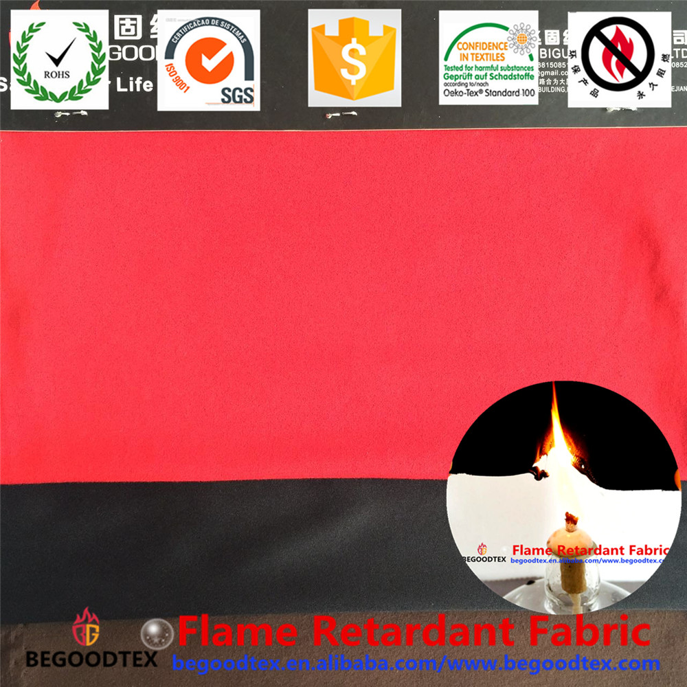 inherently flame retardant fire resistant tricot knitting fabric
