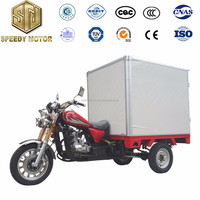 Motorized driving type refrigerator tricycle freezer oil tricycle close cabin motor tricycle