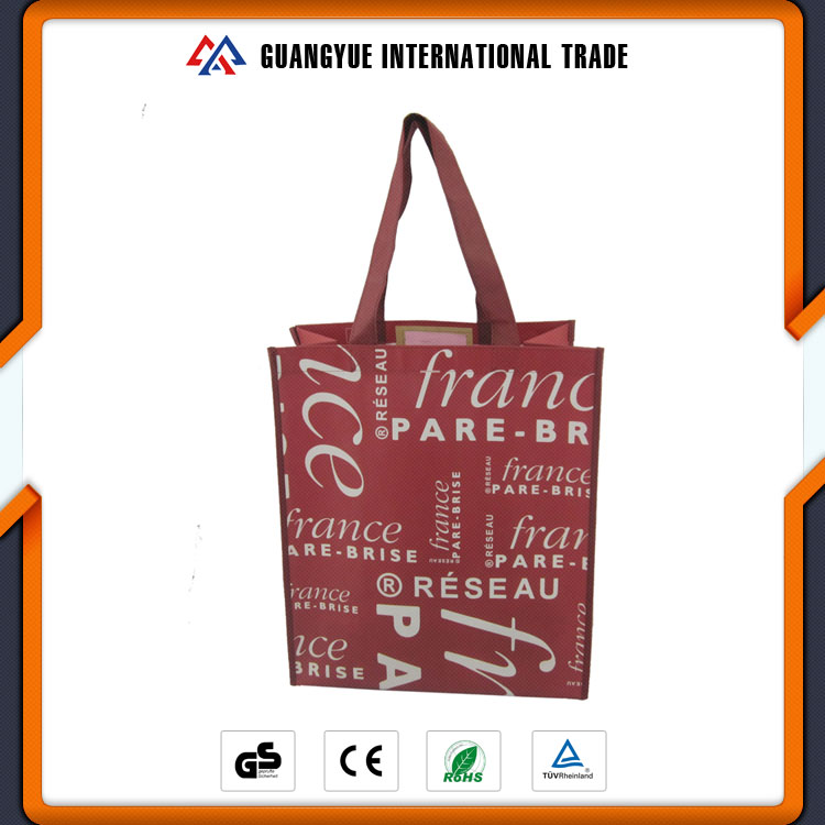 Guangyue Promotional Fashion Design Custom Logo Lady Non Woven Shoe Tote Bag With Handle