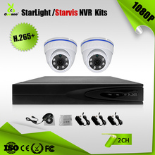 2CH 2 megapixel 1080P sony starlight system including H.265 + outdoor dome onvif IP camera
