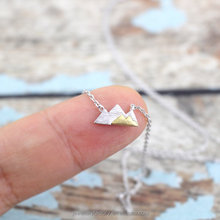 Silver Mountain Necklace, Dainty Mountain Pendant Necklace,