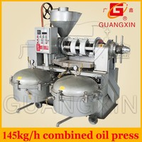 made in China combined High-quality full automatic peanut screw oil press machine/soybean oil press/sunflower s