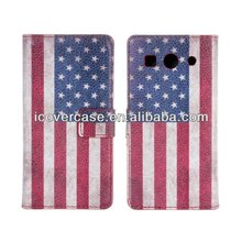 Fashion UK USA Flag PU Wallet Leather Case Cover for Huawei Ascend G520 G525 Standing Leather Flip Case