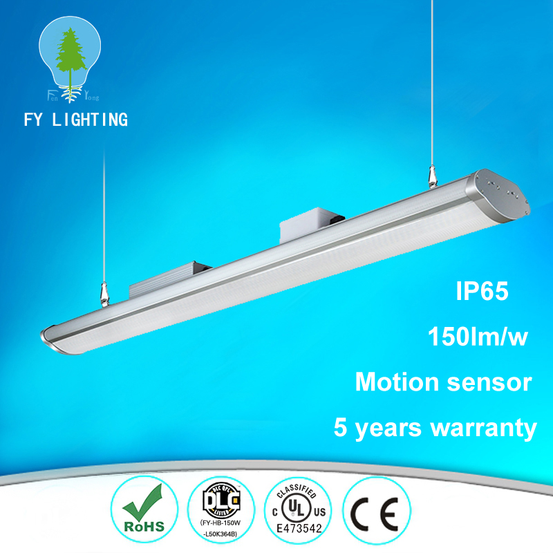 Ul Approved Parking Lot Motion Sensor Ip65 Waterproof Commercial 250W Industrial Led High Bay Light Warehouse Lighting