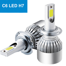 Wholesale C6 H7 led head light for motorcycle with high quality