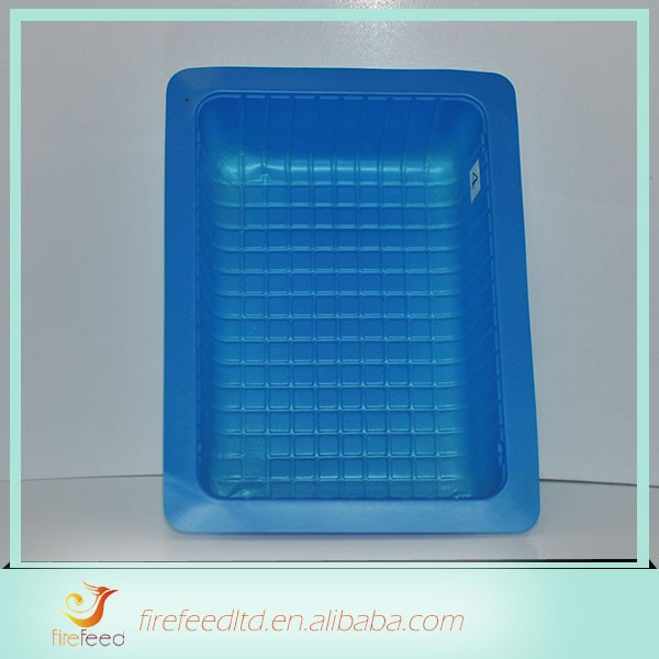 New Design Fashion Low Price flocking plastic tray for cosmetic