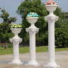 Hand made marble pillar for outdoor decoration