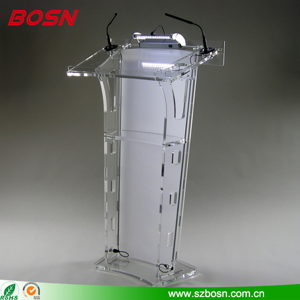 BOSN OEM ODM available Clear Acrylic Church Lecterns podium