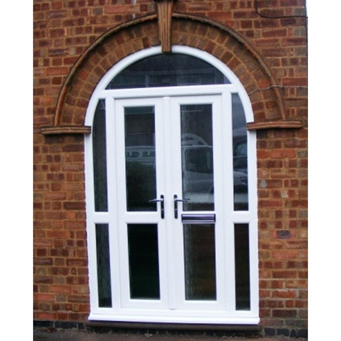 Wholesale good price upvc arched french door interior for Upvc french doors cheap